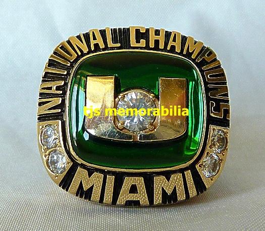 Miami Hurricanes Championship Ring