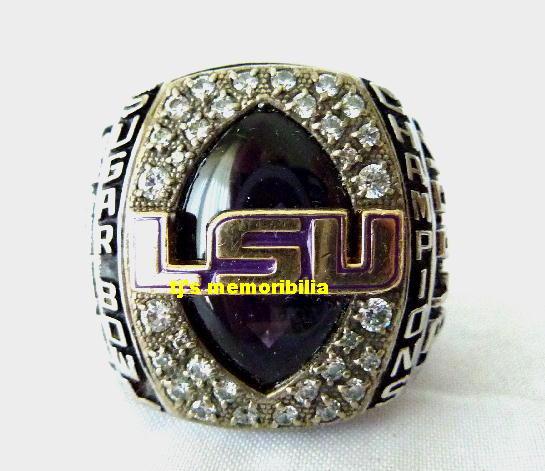 2007 Lsu Tigers Sugar Bowl Championship Ring. Open Circle Rings. Chanel Rings. Magenta Rings. Celebration Rings