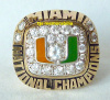 1991 U OF MIAMI HURRICANES NATIONAL CHAMPIONSHIP RING !