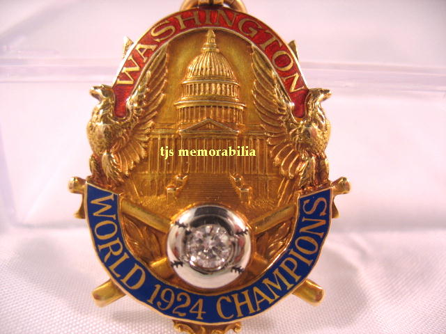 1924 WASHINGTON SENATORS WORLD SERIES CHAMPIONSHIP FOB