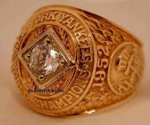 1952 NY YANKEES WORLD SERIES CHAMPIONSHIP RING