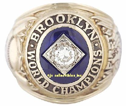 1955 BROOKLYN DODGERS WS CHAMPIONSHIP RING