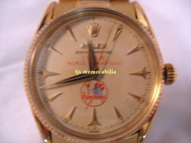 1956 NY YANKEES WORLD SERIES CHAMPIONSHIP ROLEX WATCH