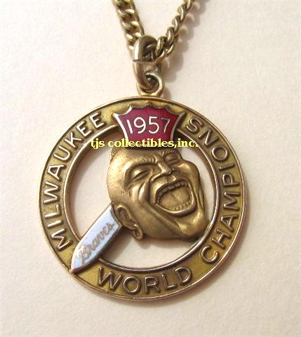 1957 MILWAUKEE BRAVES WORLD CHAMPIONSHIP TIE TACK