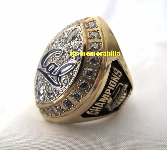2007 CAL BEARS ARMED FORCES BOWL CHAMPIONSHIP RING & GAME USED PLAYERS JERSEY