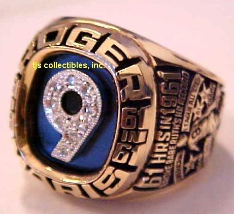 ROGER MARIS CAREER ACHIEVEMENT RING !
