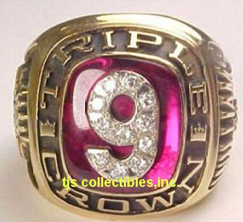 TED WILLIAMS TRIPLE CROWN RING