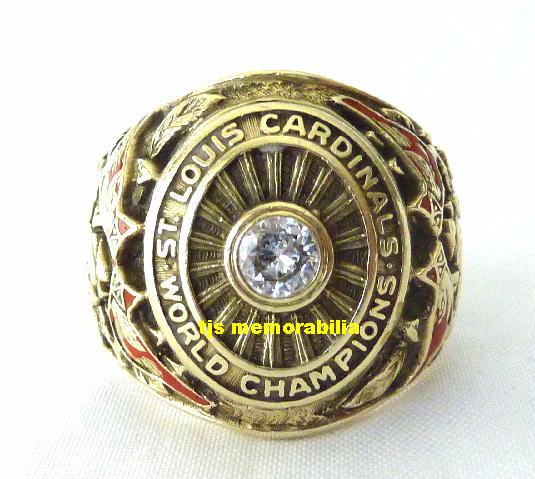 1942 SAINT LOUIS CARDINALS WORLD SERIES CHAMPIONSHIP RING PLAYER