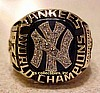 1977 NY YANKEES WORLD SERIES CHAMPIONSHIP RING