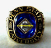 1989 PENN STATE NITTANY LIONS NIT FINALIST CHAMPIONSHIP RING